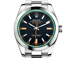 Prix du neuf Rolex 2015 Milgauss verre teinté cadran noir