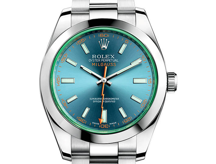 prix du neuf rolex 2015 milgauss verre teint cadran bleu. Black Bedroom Furniture Sets. Home Design Ideas