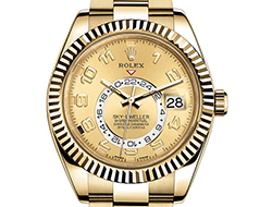 Prix du neuf Rolex 2015 Sky-Dweller or jaune