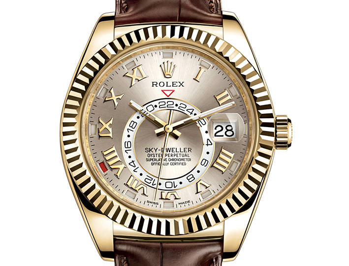 Prix du neuf Rolex 2015 Sky-Dweller Or Jaune Cuir
