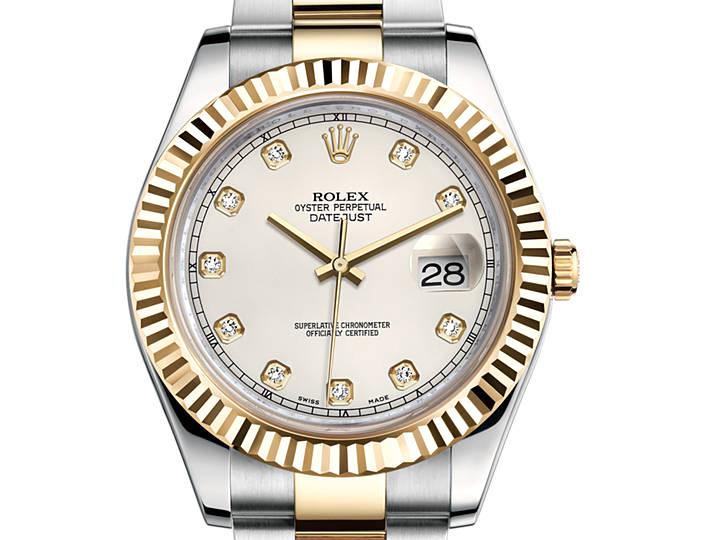 Prix du neuf Rolex 2015 Datejust 2 (41mm) or jaune/acier serti