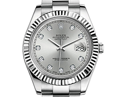Prix du neuf Rolex 2015 Datejust 2 (41mm) or gris/acier serti