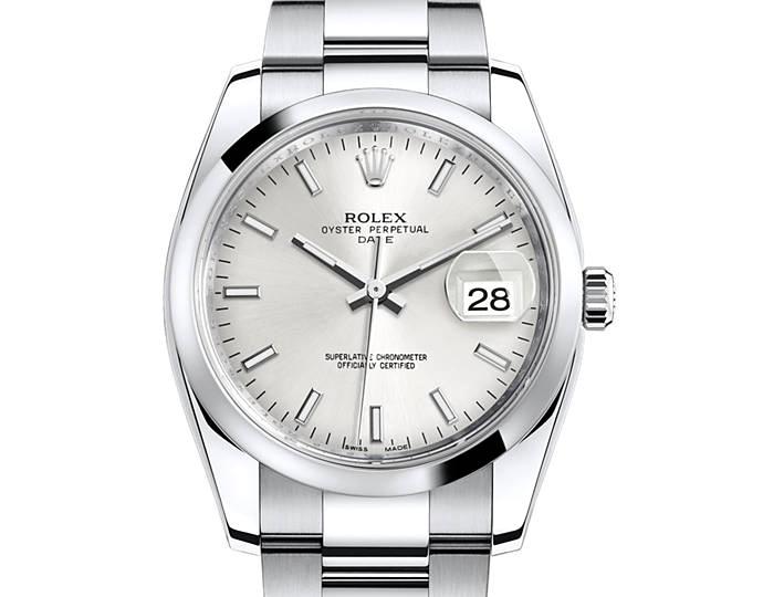 Rolex Oyster Perpetual 34mm cadran gris
