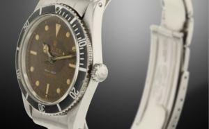 "Occasion superbe Rolex Submariner 5508 ""James Bond"" cadran tropical marron"