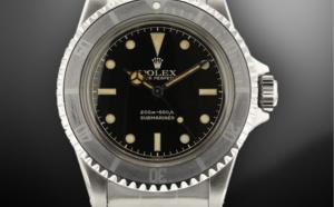 Exceptionnelle Rolex Submariner 5513 cadran chemin de fer et lunette patinée