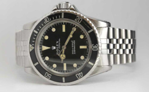 Rolex Submariner sans date référence 5513 cadran mat indexes patinés