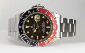 Rolex GMT-Master référence 1675 lunette pepsi et cadran laqué