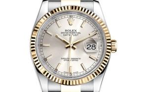Prix du neuf Rolex 2015 Datejust (36mm) or/acier bracelet Jubilé