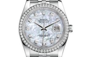 Prix du neuf Rolex 2015 Datejust (36mm) or gris / acier serti