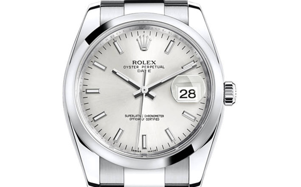 Rolex Oyster Perpetual 34mm cadran gris
